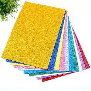 5 листов/пакет Foamiran губка блестящая пенная бумага 20x30 см крафт-бумага Золотой шпон бумажный порошок поделки из бумаги ручной работы бумажные...