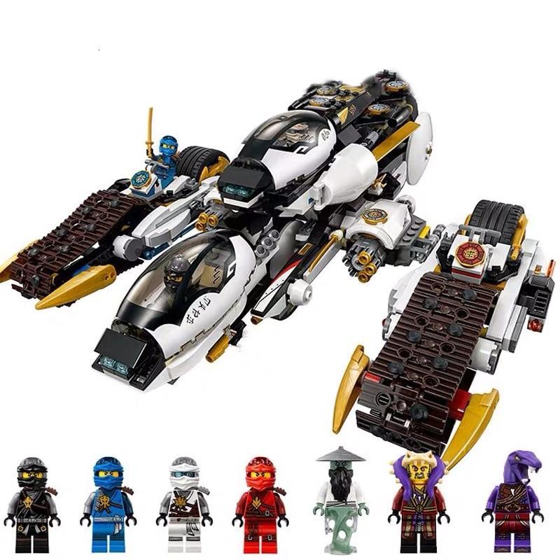 New 1146pcs Ninja Ultra Stealth Raider Building Blocks Compatible Legoingly Ninjagoes 70595 Bricks Bricks Toys For Children Gift