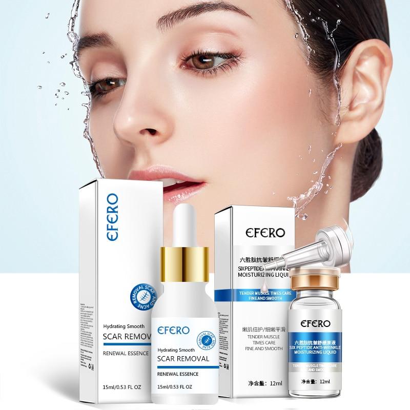 1Bottle EFERO Face Serum Skin Care Essence Moisturizing Whitening Cream Shrink Pores Anti Aging Acne Treatment Removal