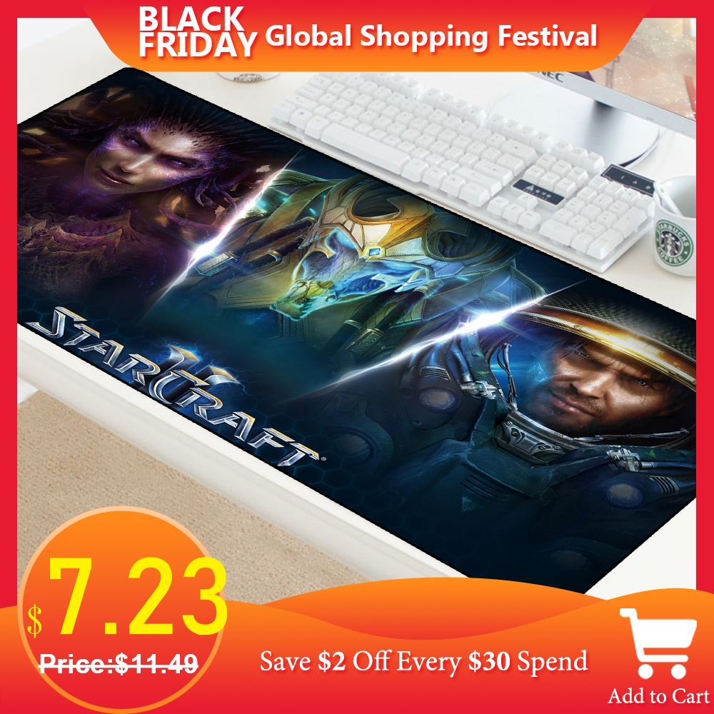 Starcraft Mousepad Comfort Mouse Mat Gaming Large Gamer Rubber Mouse Pad Office PC Computer Notbook Desk Mat For Cs Go Lol Pads