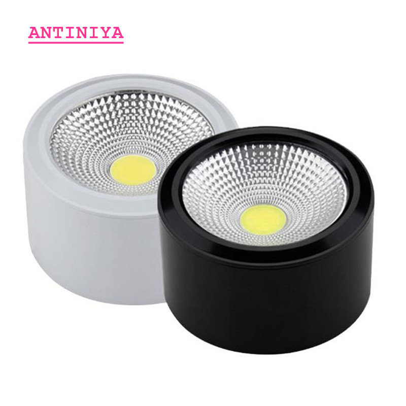 1pcs High Quality Surface Mounted Adjustment LED COB Dimmable Downlights Ac85-265V 5W 7W 9W 12W 15W LED Ceiling Lamp Spot