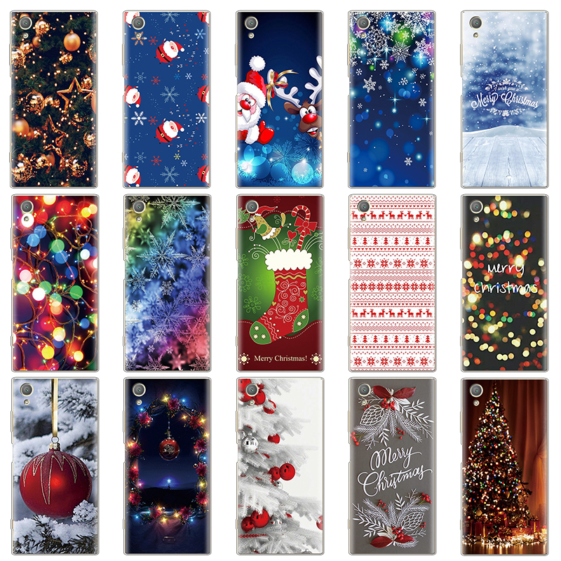 Christmas <font><b>Case</b></font> Soft Cover For Coque <font><b>Sony</b></font> <font><b>Xperia</b></font> <font><b>10</b></font> L1 X XA XA1 XA2 XZ XZ1 XZ2 XZ3 Z5 Compact Plus Ultra Xmas Gift <font><b>Cases</b></font> Funda image