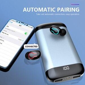 Q66 TWS беспроводные наушники V5.0 Bluetooth наушники HiFi stero 6000 мАч Power bank Зарядка батареи Беспроводные водонепроницаемые наушники