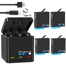 Oryginalna probty dla GoPro Hero 8 hero 7 hero 6 czarne baterie lub potrójna ładowarka do GoPro Hero8Black akcesoria do baterii