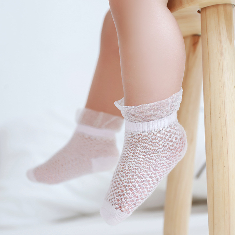 19 Years Summer New Style Viscose Baby Socks Thin Cotton Breathable Baby Socks Lace Newborns 0-3-Year-Old