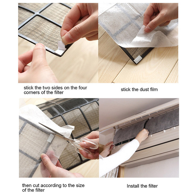 10 Sheet Practical Dustproof Paper PET Livingroom Office Dust Filter Home Hotel PM 2.5 Household Air Conditioning Filter 2