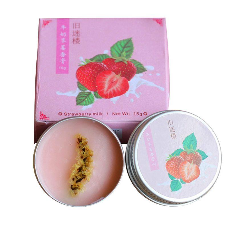Men Women Solid Perfume Portable Balm Long-Skin Fragrance Body Lasting Skin Care T4MB