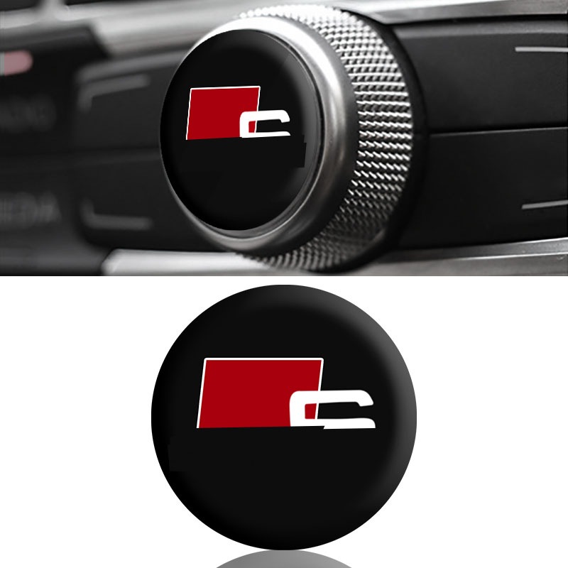 1 Pcs Car Interior Button Sticker Car Badge Decoration Sticker for Audi A3 A4 A5 A6 S4 S5 S6 S7 Q3 Q5 Q7 C5 C6 B6 B7 B8 8p 8v image
