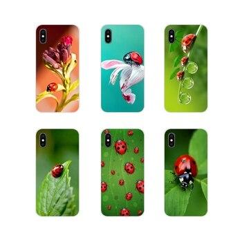 Funda de piel para Huawei Honor 4C 5C 6X 7 7A 7C 8 9 10 8C 8S 8X 9X 10I 20 Lite Pro, accesorios para teléfono con trébol de cuatro hojas, mariquita y Margarita