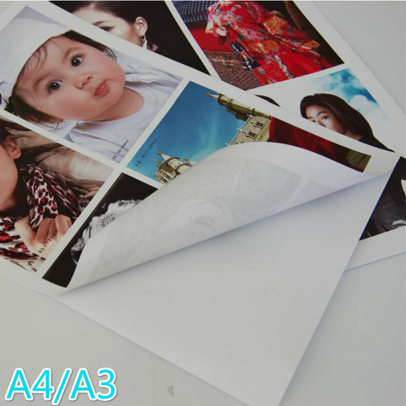 135g 150g A4/A3 50 High Gloss Self-adhesive Inkjet Printing Paper And Adhesive Tape Photo Paper Stickers Digital Photo Stickers