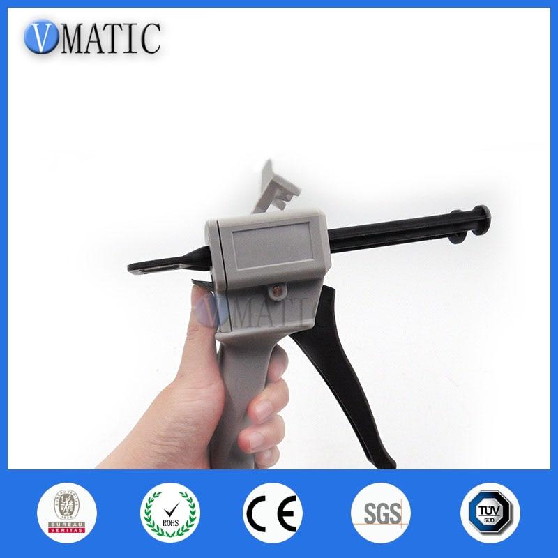 AB Клей смешивающий диспенсер пистолет для 50 мл 50cc эпоксидной смолы с клейкими картриджами(соотношение 1:1 и 2:1