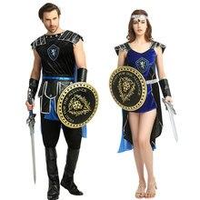 Umorden Римский, греческий солдат, воин, Костюм Гладиатора, женский, мужской, косплей, средневековый, король, убийца, костюмы, Хэллоуин, нарядное платье