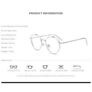 Image 4 - Оправа для очков из чистого титана для мужчин и женщин, круглые очки для близорукости в стиле ретро по рецепту, винтажные овальные корейские очки 2019