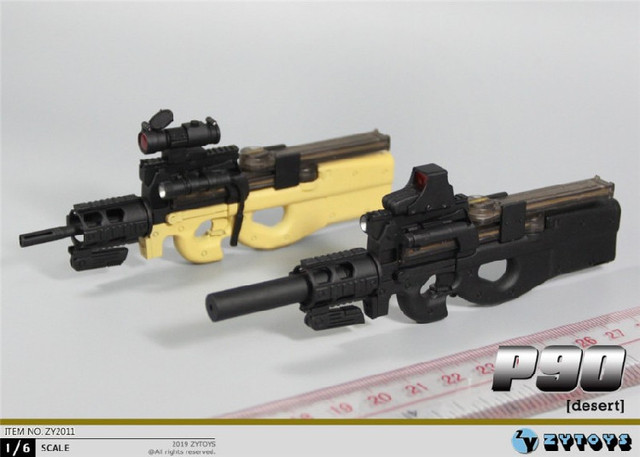 ZYTOYS ZY2011 1/6 P90 Gun Model for 12inch Action Figure DIY