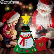 OurWarm New Year Toys Toy Christmas 3D DIY Felt Xmas Tree Merry Ornament Home Decoration Snowman Ornaments