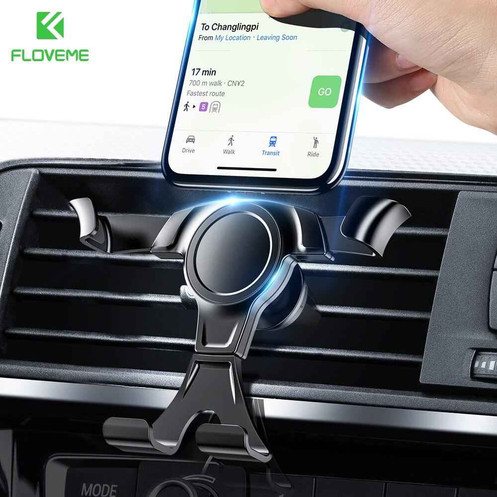 Универсальный гравитационный держатель для телефона в автомобиле, держатель для телефона с креплением на решетку вентиляции для iPhone 7, Samsung,...