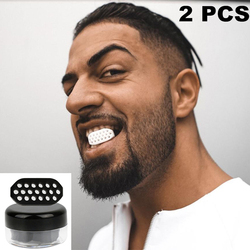 2Pcs Face Chin Lifting Facial Muscles Exercise Soft Silicone Black/white Beauty Masseter Exercise Cheek Lift Artifact Tools