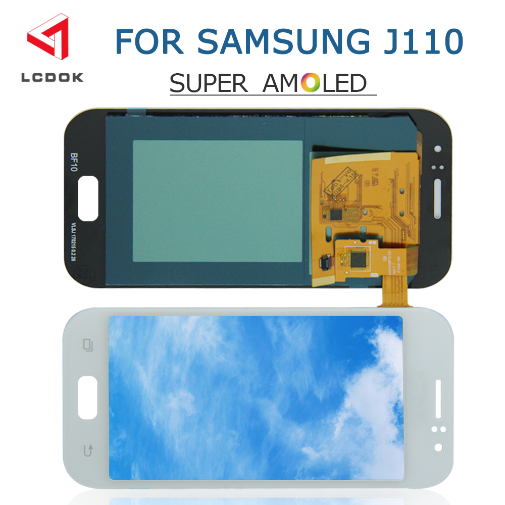 Super AMOLED LCD For <font><b>Samsung</b></font> Galaxy <font><b>J1</b></font> <font><b>Ace</b></font> J110 J110F J110M J111 LCD Display Touch Screen Digitizer Assembly Panel <font><b>Pantalla</b></font> image