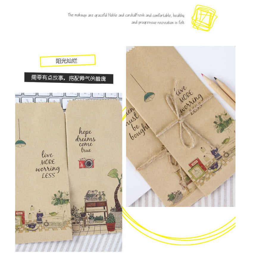5 sztuk/paczka Kawaii te małe rzeczy Kraft koperta papierowa biuro zaopatrzenie szkolne stacjonarne