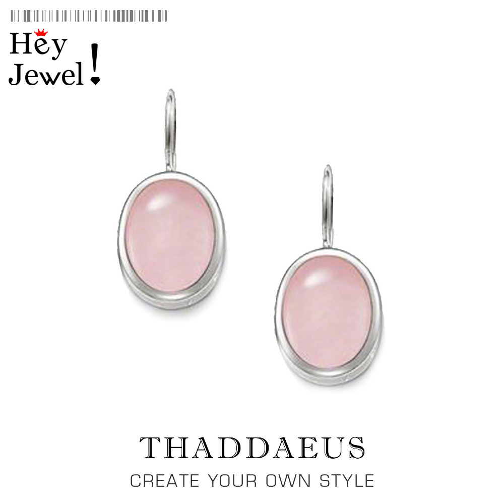 Oval Drop Earrings from the 925 Sterling Silver,Thomas Style Gram Diy,Good Jewerly For Women,2017 Ts Gift In 925 Sterling Silver