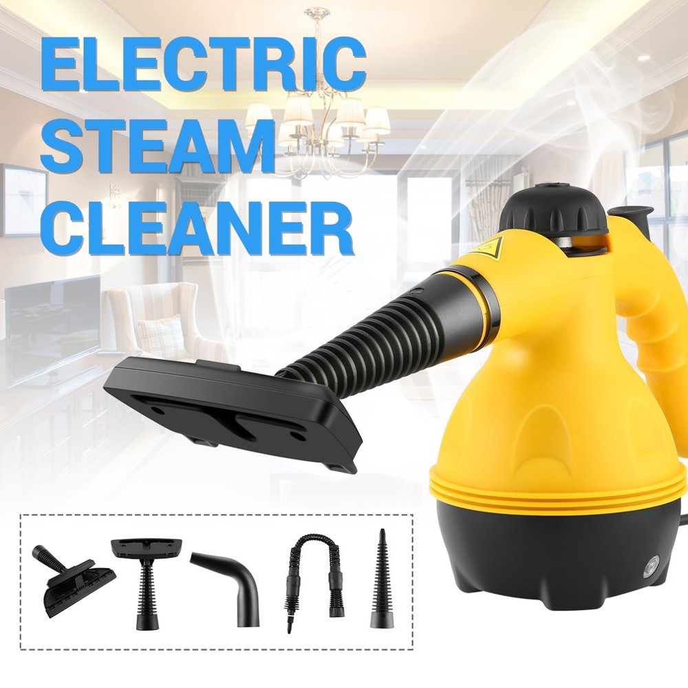 Multi Purpose Electric Steam Cleaner Portable Handheld Steamer Household Cleaner Attachments Kitchen Brush Tool EU Plug