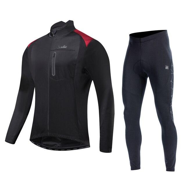 Santic roupas de ciclismo, roupas esportivas térmicas à prova de vento reflexivas para bicicleta, casaco e calças para ciclistas, tamanho asiático 1
