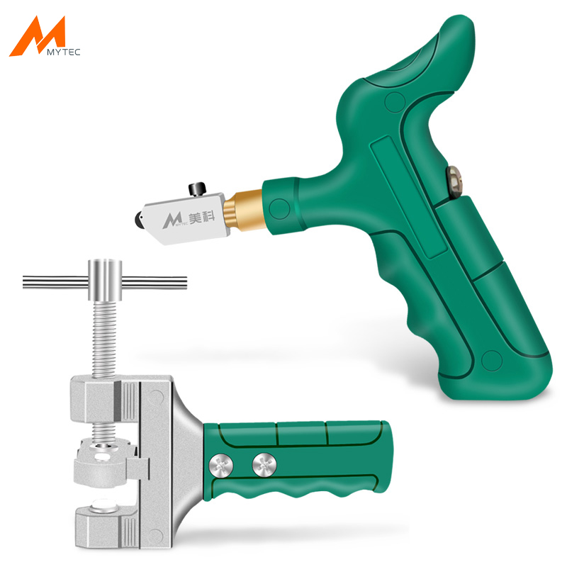 Tiles Glass Cutter Cutting Tool Set With 2pcs Repalcement Blade And Lubrication Oil Construction Cutting Knife Wheel