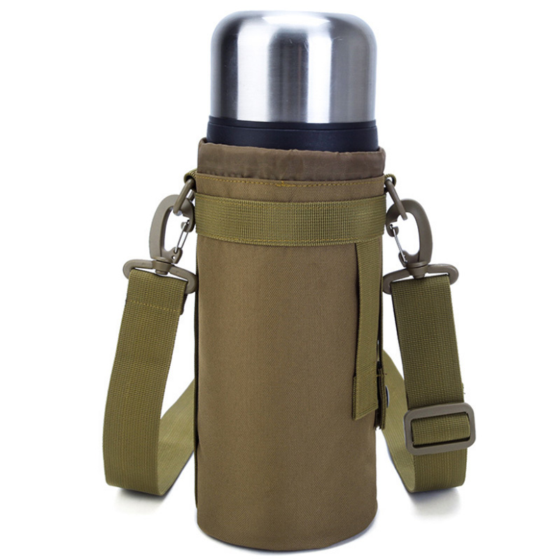Nylon Water Bottle Pouch Canteen Cover Outdoor Travel Kettle Bag 1.5L