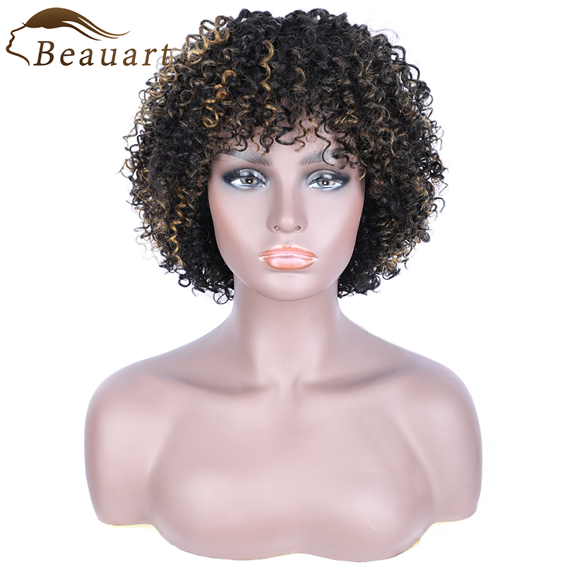 Beauart 100% Human Hair Bob Cut Full Wigs For Black Women 12