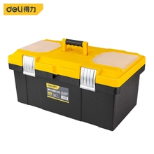 DELI Waterproof Tool Kit 53*31*25cm Tool box Two Layers Seal box Shockproof Case Plastic Toolbox Portable Suitcase for Tools