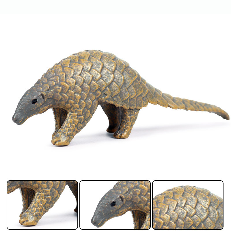 Simulation Pangolin Animal Figure Collectible Toys Wild Animal Cognition Action Figures Kids Plastic Model Toys