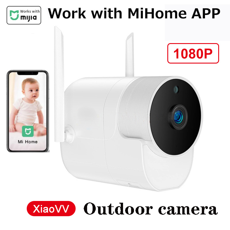 Xiaomi Outdoor Camera Xiaovv Security Camera Wireless Wifi High-Definition Night Vision Work With Mihome App For Smart Home Kit