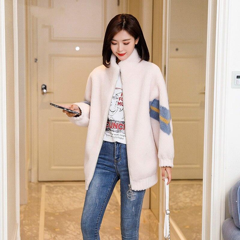Autumn Winter Coat Women Clothes 2020 Korean Real Fur Coat Female Wool Jacket Vintage Sheep Shearling Tops Manteau Femme ZT4501