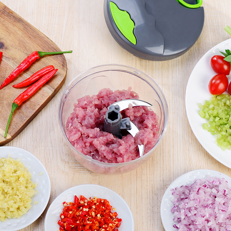 Manual Food Chopper for Vegetable Fruits Nuts Onions Quick Pulling Chopper Pull Mincer Blender Mixer Food Manual Food Chopper for Vegetable Fruits Nuts Onions Quick Pulling Chopper Pull Mincer Blender Mixer Food Processor Kitchen Tool
