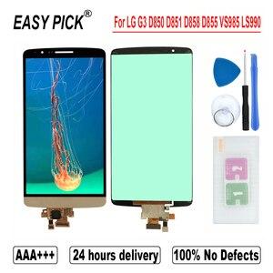 Image 3 - עבור G3 כפולה D858 D858HK D856 LCD תצוגת מסך מגע Digitizer עצרת כלים חינם עבור LG G3 D850 D851 D852 d855 VS985 LS990