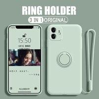 Funda de teléfono a prueba de golpes para Oneplus Nord 8, 9, 8T Pro, color caramelo, anillo de protección, funda de TPU, gel de sílice líquido, moda