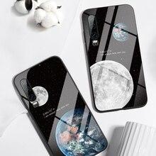 Black Moon Phone Case for Huawei Honor 9 10 Lite Mate 20 P20 P30 Lite For P Smart Z Nova 3 Honor 8X Tempered Glass Cases Fundas цены