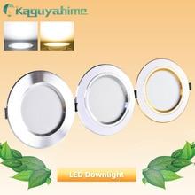 Downlight זהב כסף לבן אלומיניום 3W 5W 9W 12W 15W 18W דק במיוחד LED downlight AC 220V 240V עגול שקוע LED ספוט תאורה