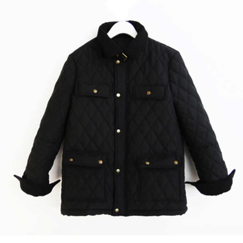 Little Versatile Black INS Cotton-padded Clothes New Style Korean-style Stylish Women's Short Jacket Cotton-padded Clothes