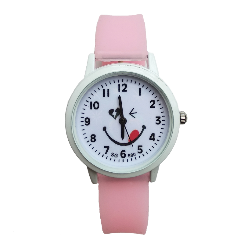 High Quality Fashion Smiley Face Kids Watches Children Girl Rubber Quartz Watch Boy Wrist Watch Clock Horloge Kinderen Kid Gifts