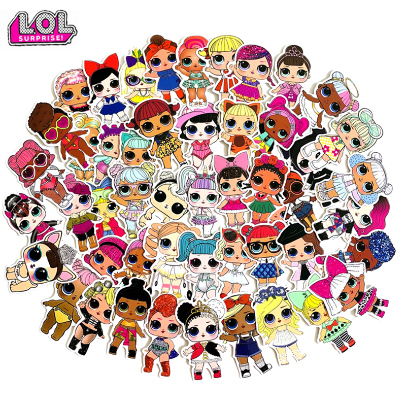 50pcs 100pcs LOL Stickers Personality Lols Dolls Stickers Children's PVC Graffiti Stickers Suitcase Car Boot Guitar Waterproof