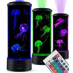Boaz Kwallen Lamp Tank Sfeerverlichting Aquarium Kleur Veranderende Afstandsbediening Ocean Wave Projector Kwallen Kinderen Tafel Licht Lava Lamp