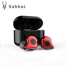 Sabbat E12 In Ear Oortelefoon Echte Draadloze Bluetooth 5.0 HIFI Monitor Noise Sport Headset O5 X1 X1E O2 I8 AIR LIEFDE Gratis Verzending
