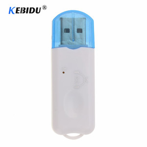 Kebidu Hot USB Bluetooth Stereo Music Receiver Wireless Audio Adapter Dongle Kit Built In Microphone For Speaker For Phone Car