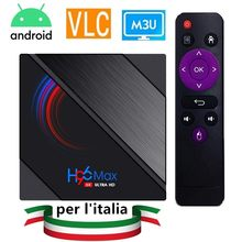 Smart IPTVS Italia Android Quad Core IPTV-M3u italie sans fil WIFI 2.4Hz Bluetooth V5 2GB RAM Enigma2 M3u(China)
