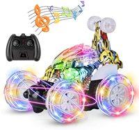 Roclub-coche a Control remoto para niños y niñas, juguete de coche a Control remoto con trucos de baile giratorio de 360 °, 2,4 Ghz