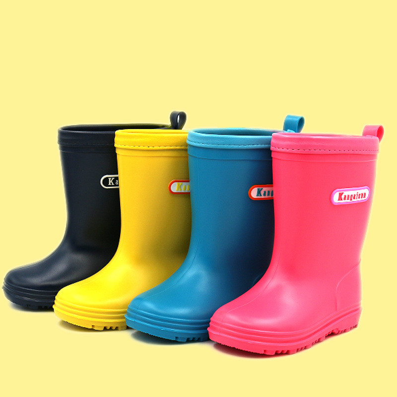Children Rain Boots Spring Autumn Winter Boys Girls Shoes Baby Kids Boys Girls Rainboots Waterproof Shoes Cartoon RainbootBoots   -