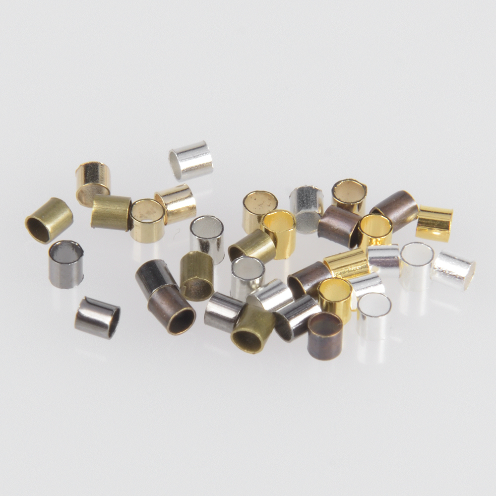 500Pcs/Lot Tube Crimp End Beads Findings Accessories For Necklace Stopper Spacer Beads Diy Handmade Jewelry Making Supplies