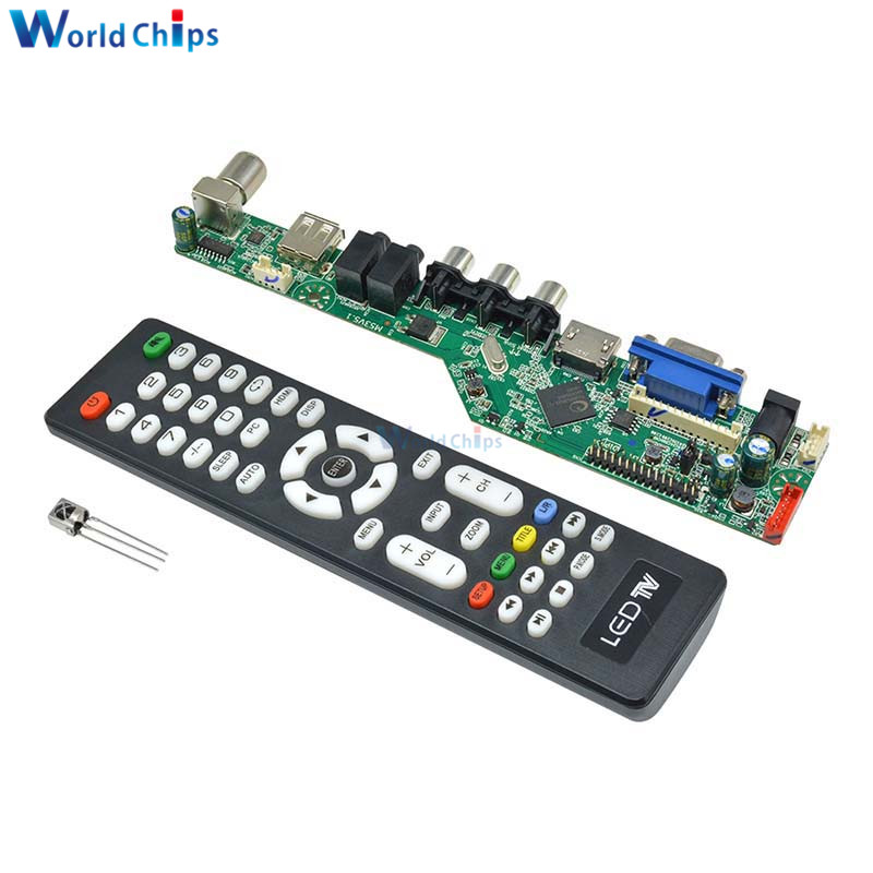 Universal <font><b>LCD</b></font> Controller <font><b>Board</b></font> Resolution <font><b>TV</b></font> Motherboard <font><b>VGA</b></font>/<font><b>HDMI</b></font>/<font><b>AV</b></font>/<font><b>TV</b></font>/<font><b>USB</b></font> <font><b>HDMI</b></font> Interface Driver <font><b>Board</b></font> Drive Control Module image