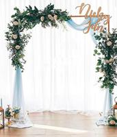 New wedding props wedding stage background frame wrought Iron decorative flower stand birthday party wedding square arch shelf